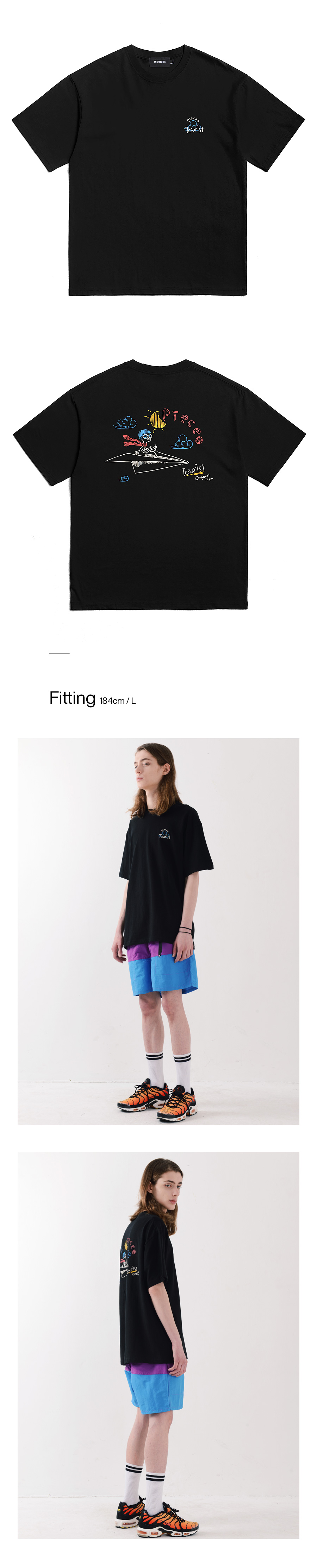 FLYINGMAN TSHIRTS (BLACK)